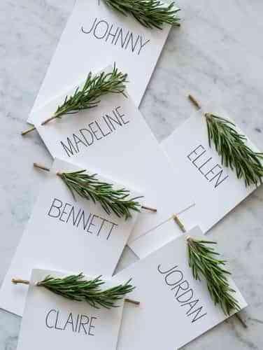 tarjetas para la mesa