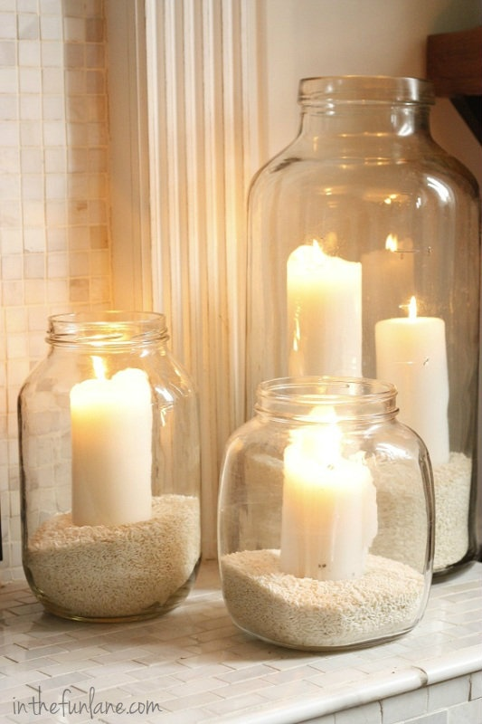 velas y arena