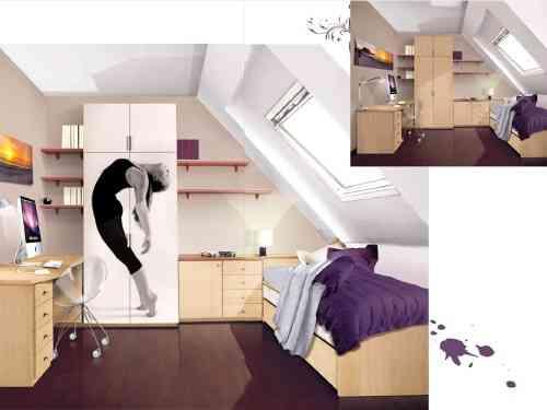 Decorar un dormitorio femenino juvenil decoracion - Decorar un dormitorio juvenil ...