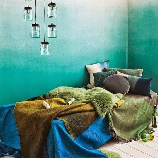 pintar pared con color difuminado