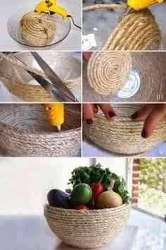 cesta con cuerdas