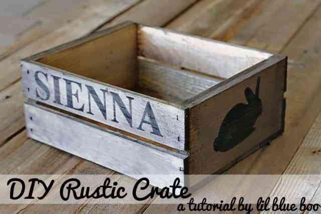 caja de madera rustica