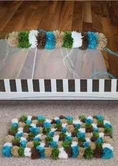 Diy hacer una alfombra de lana decoraci n de interiores for Alfombras hechas con lana