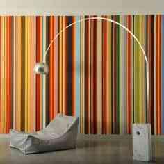 Decorar una pared con un código de barras en colores