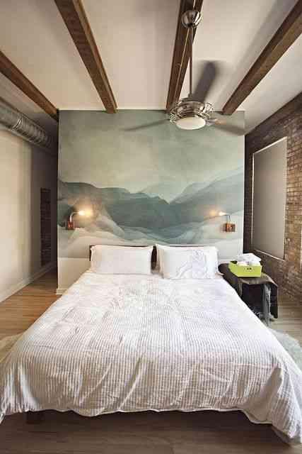 Decorar El Dormitorio Con Un Mural Como Cabecero