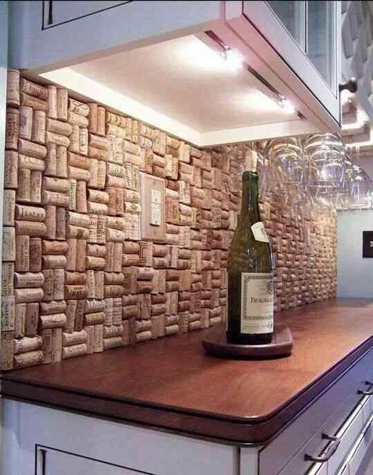 Una pared de corchos en la cocina - Decoración de Interiores | Opendeco