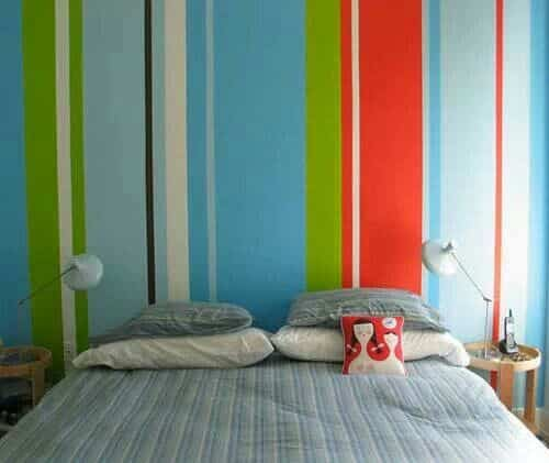 decorar dormitorio con franjas
