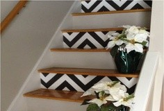 escaleras con estampado chevron