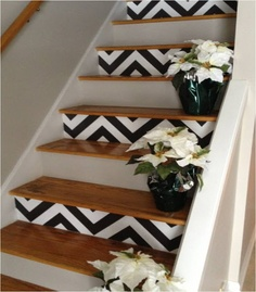 escaleras con estampado chevron