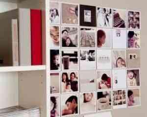 Cómo decorar con fotografías una pared