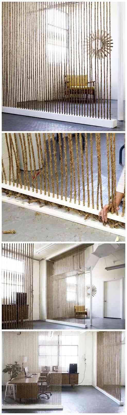 paredes de cuerda para separar espacios