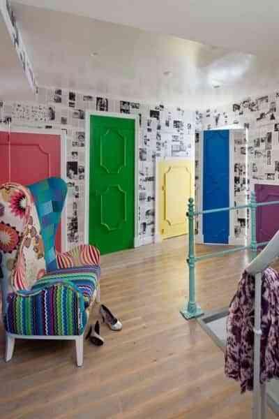 decorar puertas en colores