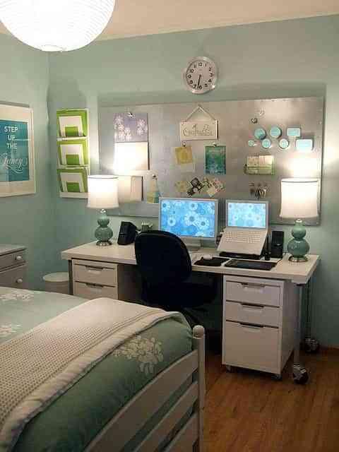 una oficina para el dormitorio