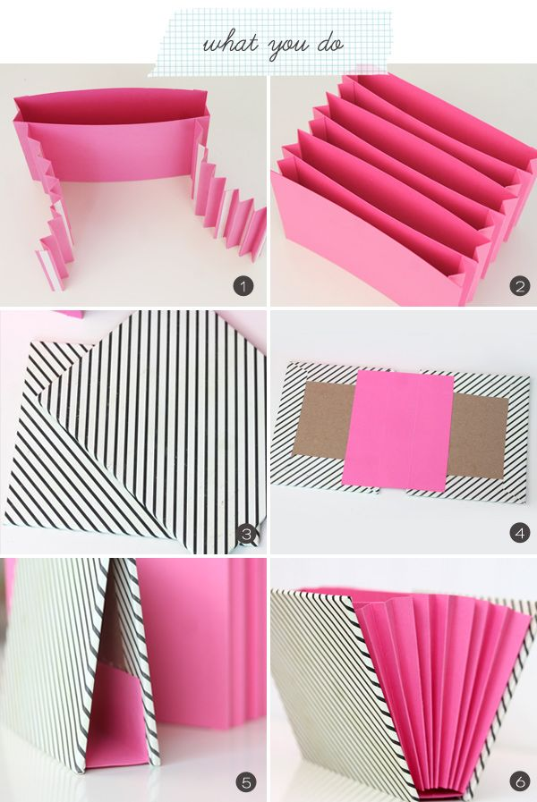 Diy un organizador de papel decoraci n de interiores for Handmade things from waste material for kids step by step