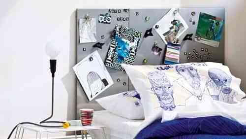 Un cabecero muy original para dormitorio juvenil