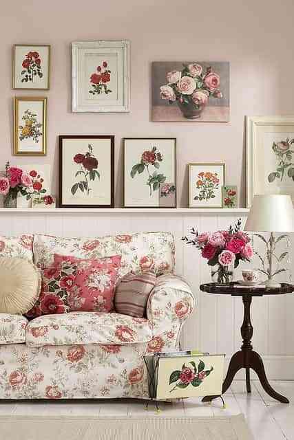 decoración con inspiración floral