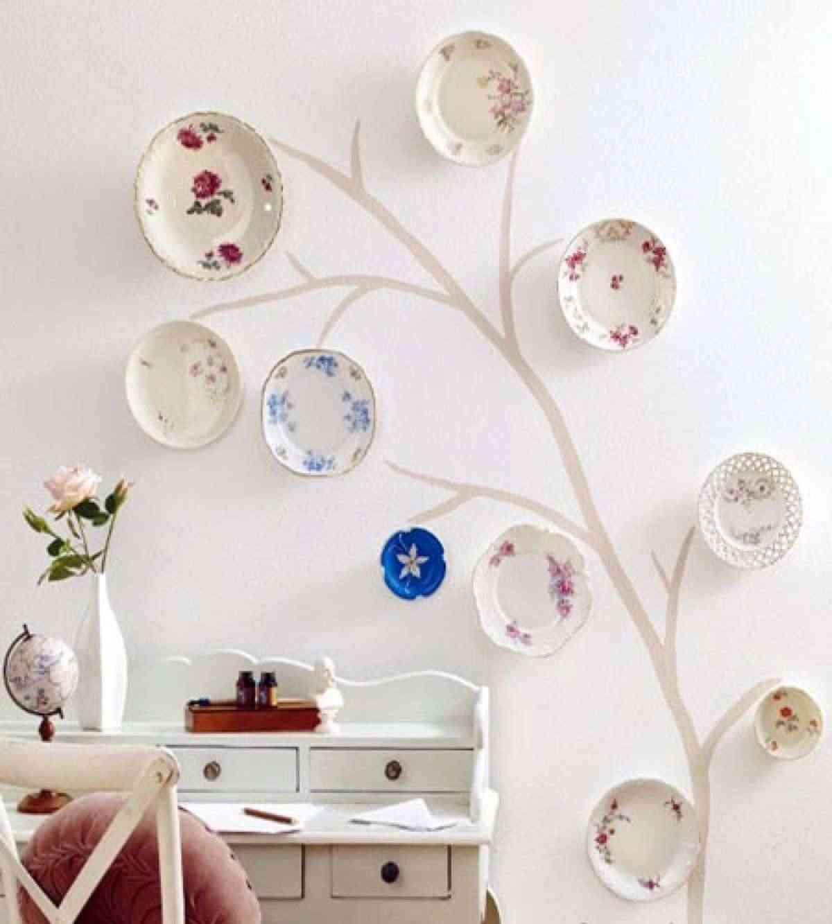8 ideas para decorar con platos ¡desde la cocina hasta el jardín!