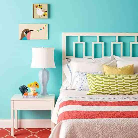 decorar dormitorio turquesa