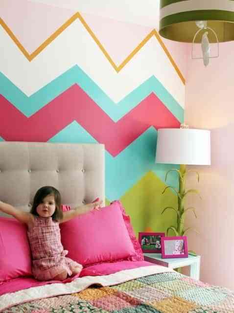 decorar paredes chevron