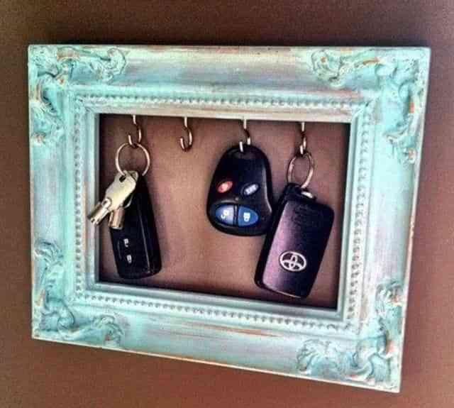 un marco para llaves