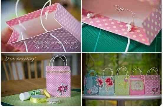 739ab8960 DIY bolsas de papel para regalos - Decoración de Interiores | Opendeco