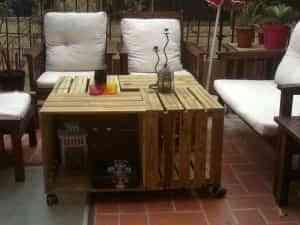 caja de fruta mesa