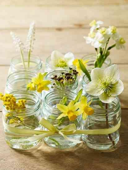 Centros de mesa para decorar la primavera Decoracin de Interiores