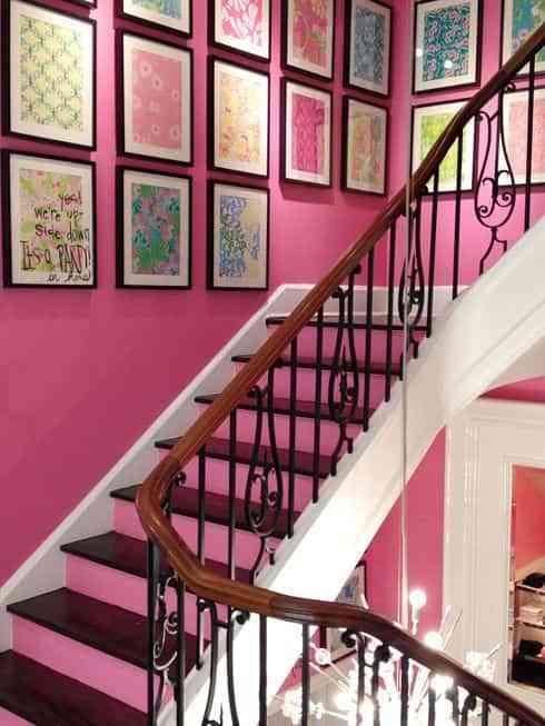 decorar pared rosa