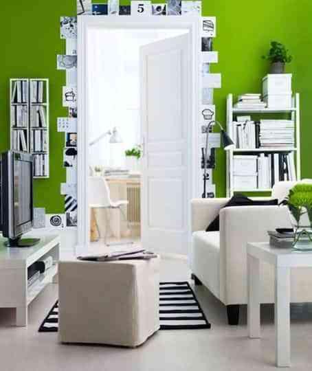 decorar con verde