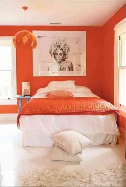 dormitorios rosa y naranja