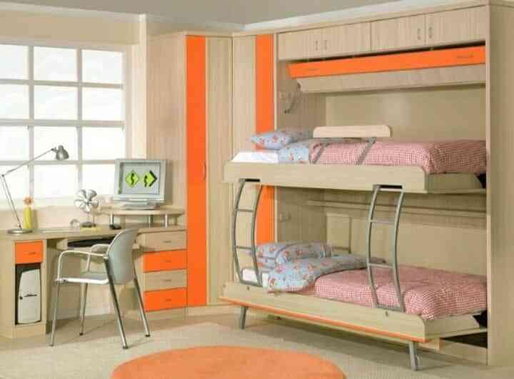Decoración de dormitorios naranja y tonos pastel - Decoración de ...