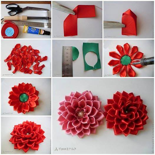 craft ideas for making flowers diy flores de tela de satin decoraci 243 n de interiores 6204