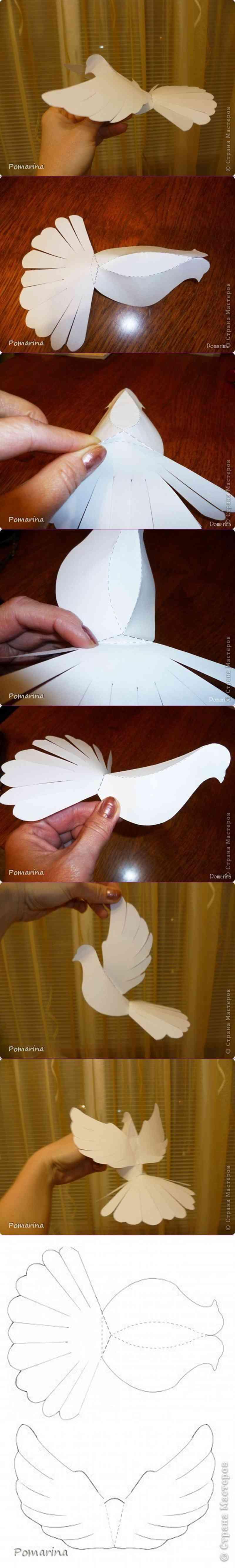 Decoraci n para primera comuni n con palomas de papel - Como preparar una comunion en casa ...