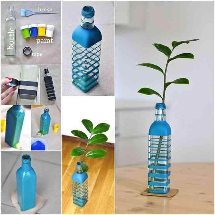 Reciclar botellas de vidrio decoraci n de interiores - Reciclaje manualidades decoracion ...