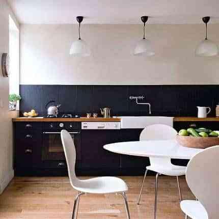 cocina en negro