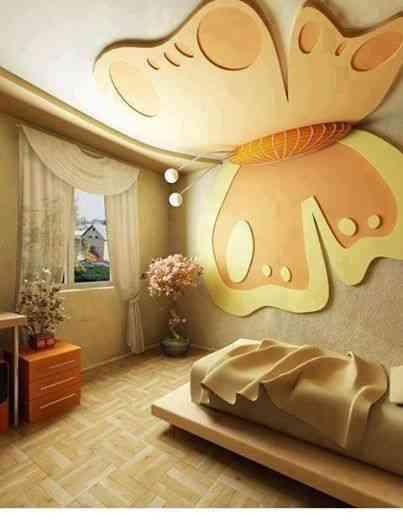 Ideas para dormitorios infantiles con mariposas - Decoracion interiores infantil ...