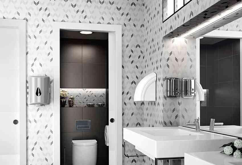 Decorar paredes de ba o con papel pintado decoracion - Papel pintado para banos ...
