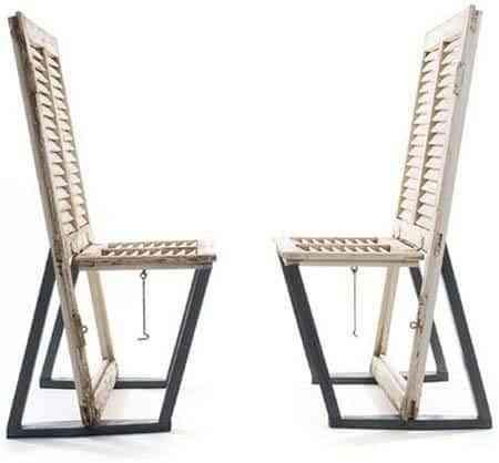 Reciclar una vieja puerta para una silla nueva for Puertas para reciclar
