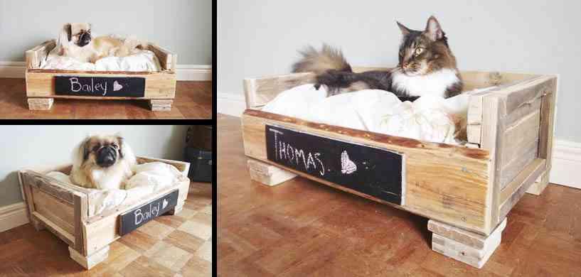 Cama para gatos hechas con palets - Casa de perro con palets ...