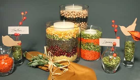 decorar con legumbres