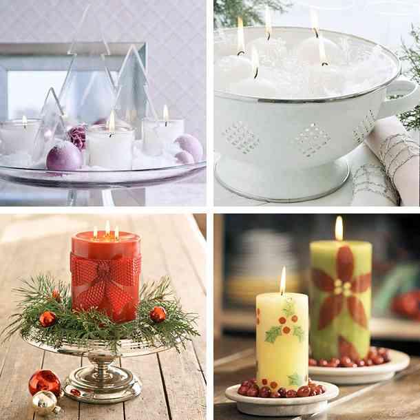 Decorar con diferentes tipos de velas