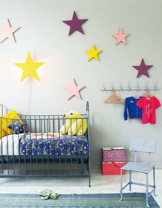 Decorar Paredes Infantiles Con Estrellas Decoracion De - Decoracin-paredes-infantiles