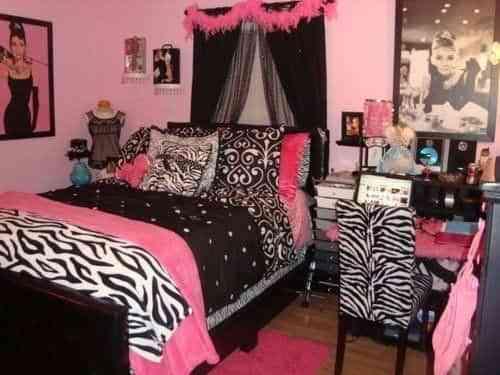 Decorar dormitorios juveniles fucsia y negro decoraci n Habitaciones juveniles rosa