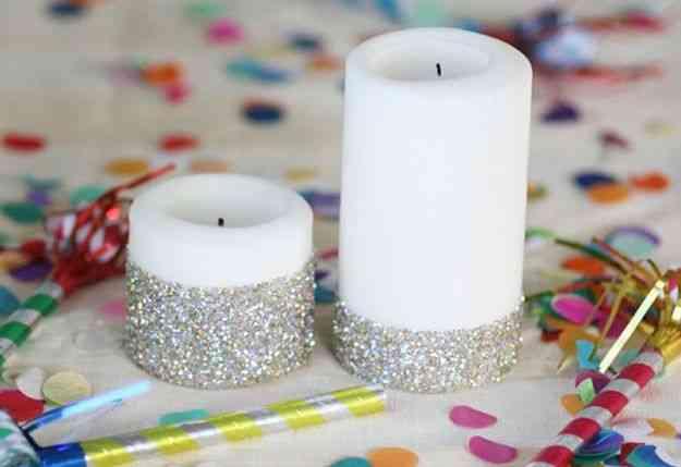Decorar Velas Con Brillantina Decoracion De Interiores Opendeco - Como-decorar-una-vela
