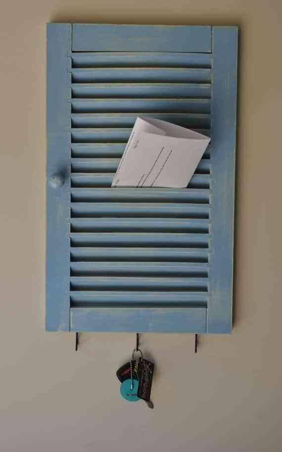 Organizadores reciclados de viejas ventanas - Decoración de ...