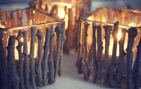 portavelas madera