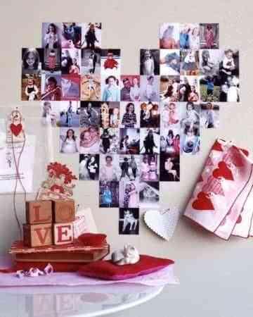 Decoraci n fotos coraz n - Decoracion de paredes con fotos ...