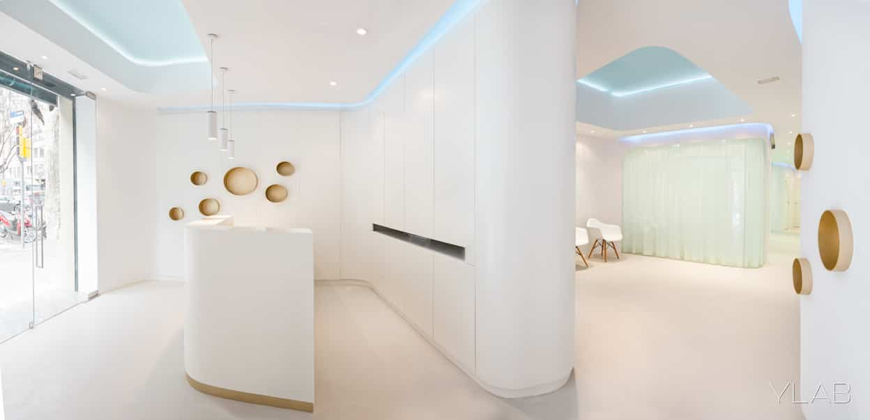 Diseño de Interiores Clínica Dental Barcelona YLAB arquitectos