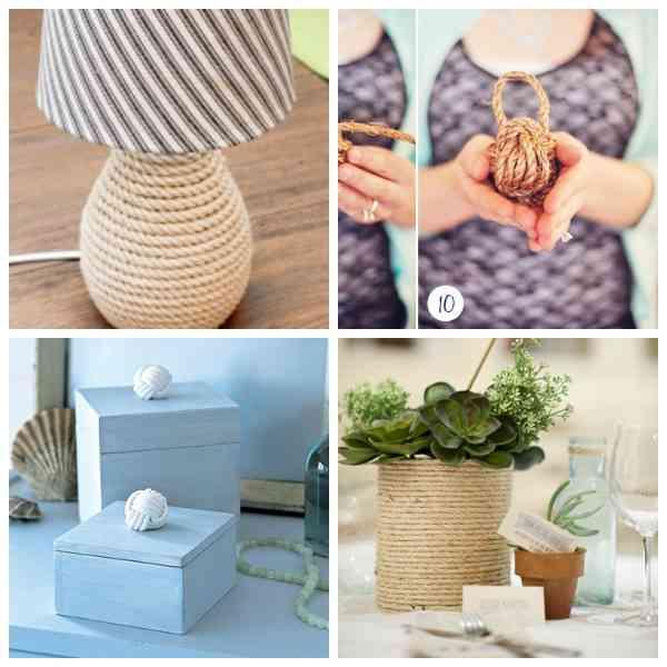 Ideas para decorar con cuerda decoracion - Decoracion con cuerdas ...