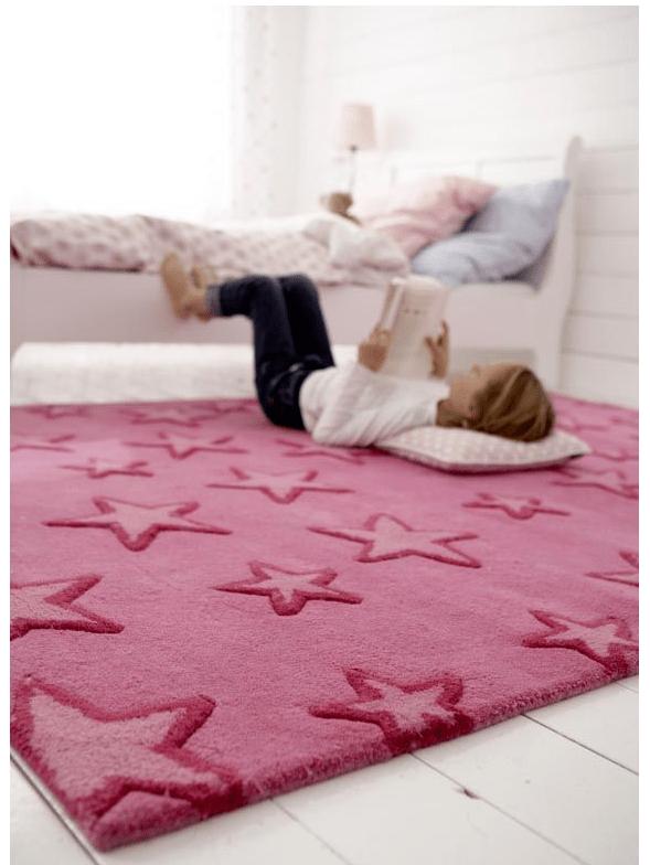 decoracion infantil - alfombra de estrellas